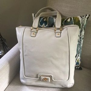 ❤️ Marc Jacobs Large Cream Leather Tote Bag ❤️